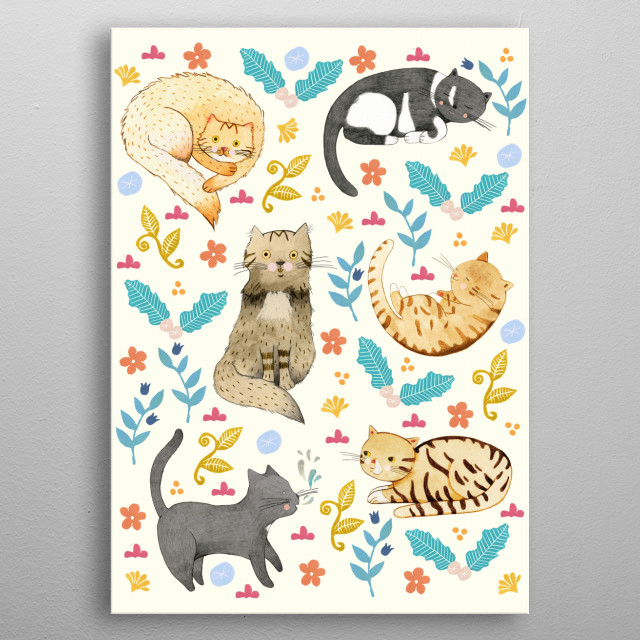 My Cats metal poster