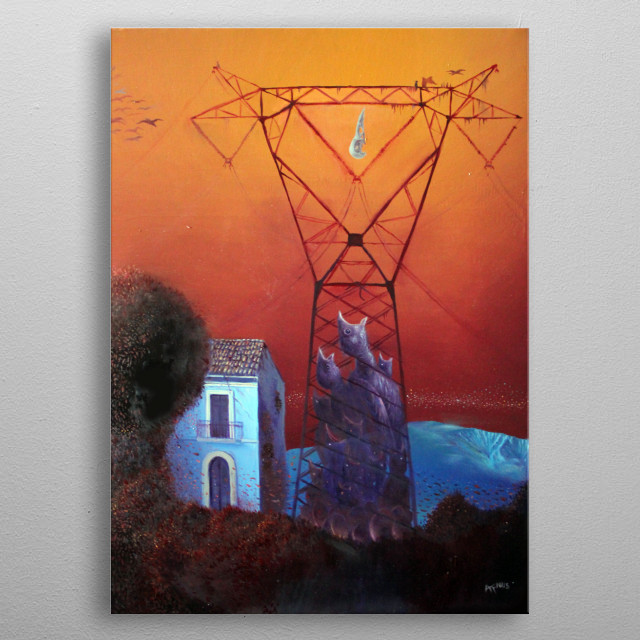 Alessandro Fantini - Meria (The gated whispers) oil on canvas, 40x50 cm. (2015)  metal poster