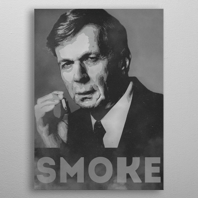 Smoke! Funny Obama Hope Parody (Smoking Man)   The very mysterious Smoking Man in his profession. Just smoke like the guy also known as 'Canc... metal poster