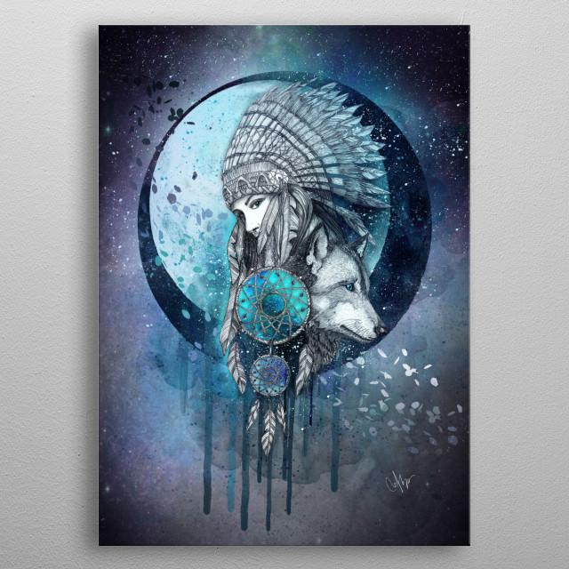 Dreamcatcher metal poster