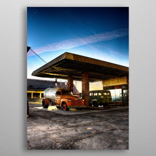 Abandoned gas station @ Route... by Karol Banaszkiewicz ...