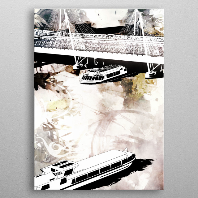 An on going project based on views around the River Thames in London. metal poster