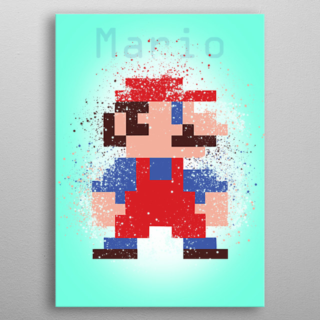 The Classic Super Mario. metal poster