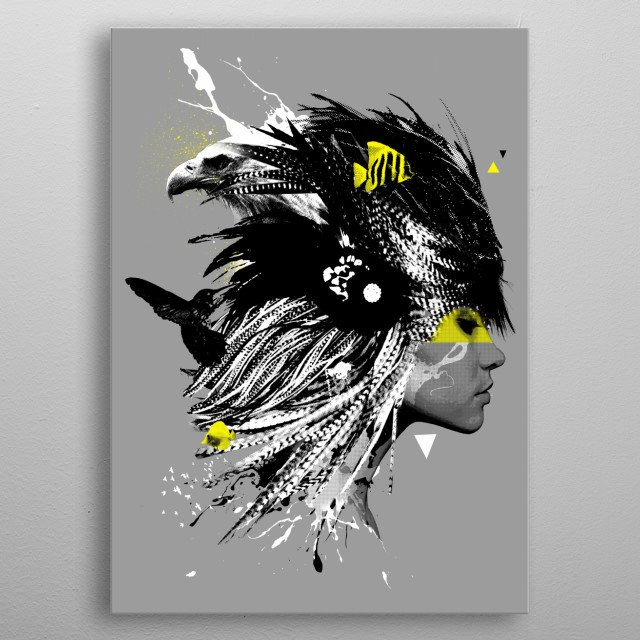 High-quality metal wall art meticulously designed by nakedmonkey would bring extraordinary style to your room. Hang it & enjoy. metal poster