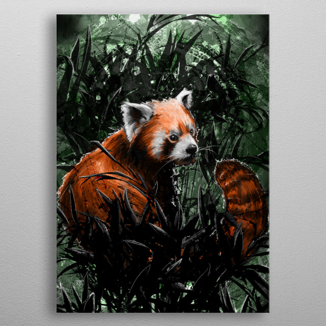 A Red Panda. Enjoy and Cheers! metal poster