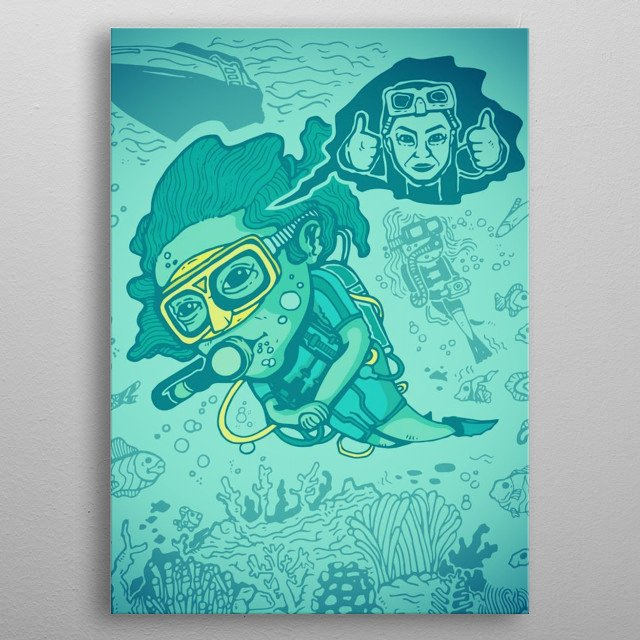 Fascinating metal poster designed by Timo Ambo. Displate has a unique signature and hologram on the back to add authenticity to each design. metal poster