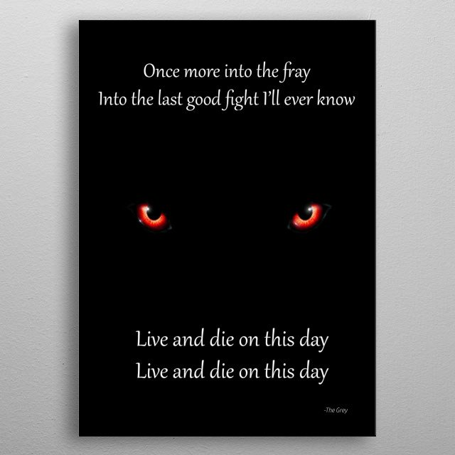 Live and die metal poster