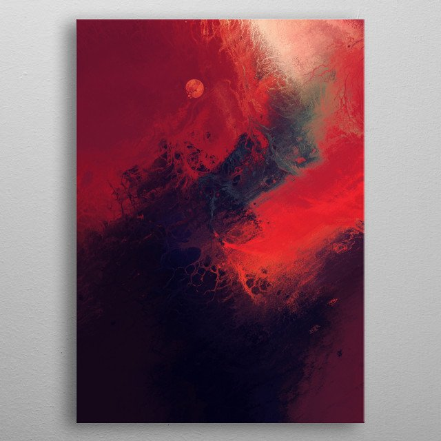 Fascinating metal poster designed by Dorian Legret. Displate has a unique signature and hologram on the back to add authenticity to each design. metal poster