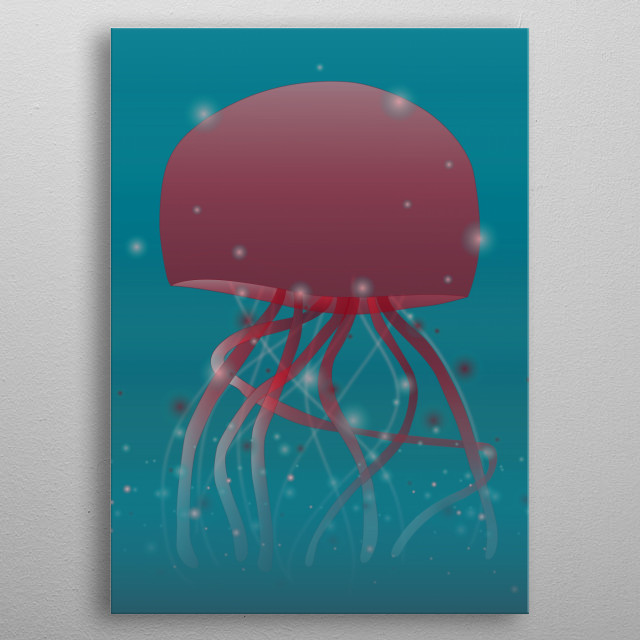 Big Jellyfish metal poster