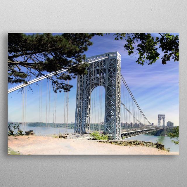 Bridge Across the way metal poster