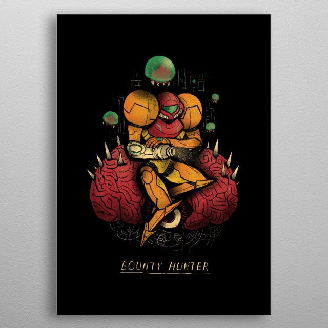 bounty hunter metal poster