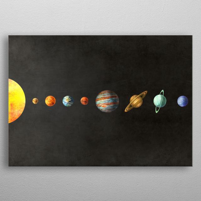 Solar System  metal poster