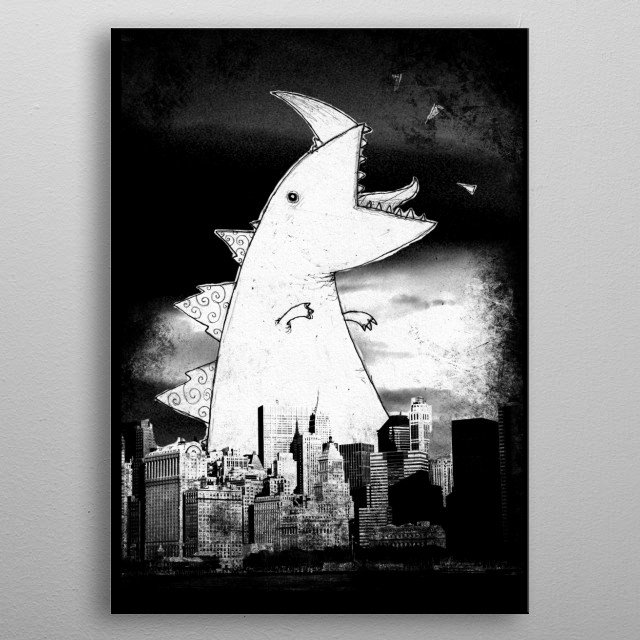 Just a big old monster doing what monsters do best. metal poster