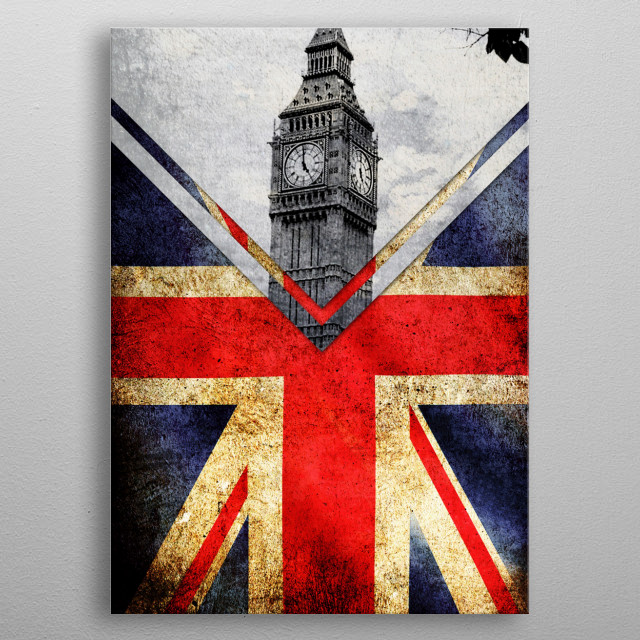 Flags - UK metal poster