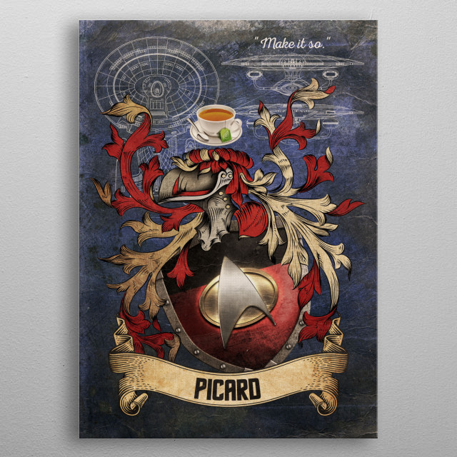 The House of Picard metal poster