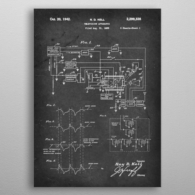 High-quality metal print from amazing Vintage Patents collection will bring unique style to your space and will show off your personality. metal poster