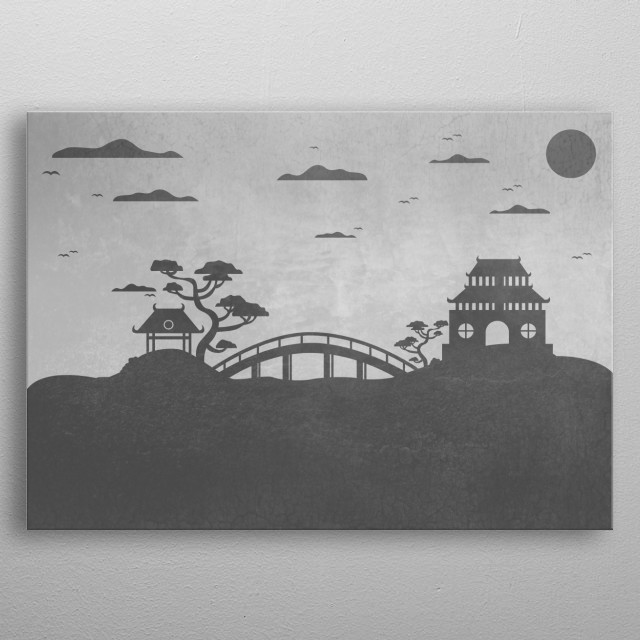 Peaceful landscape!  metal poster