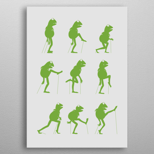 Ministry of Silly Frog Walks metal poster