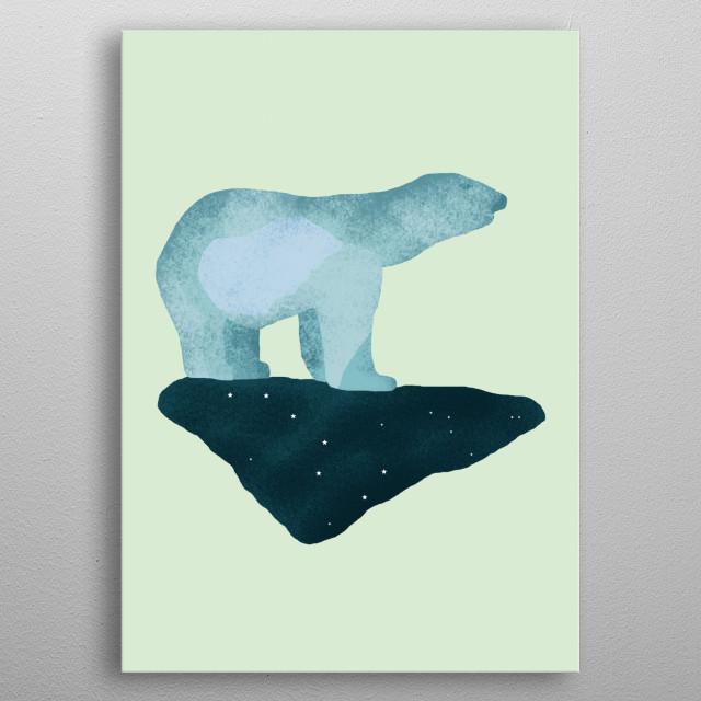 Polar Bear metal poster