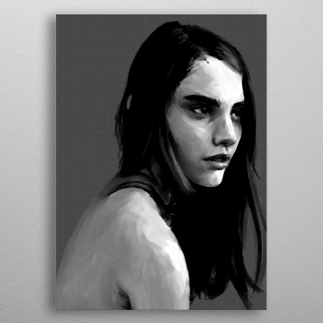 Some say she looks like Emma Watson, but with hair as dark as the night sky. Even so, her beauty is ageless. metal poster