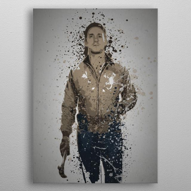 """Driver"" Splatter effect artwork inspired by the film, Driver metal poster"
