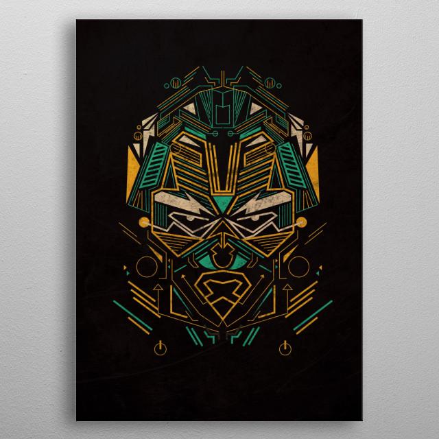 Geometric line metal poster