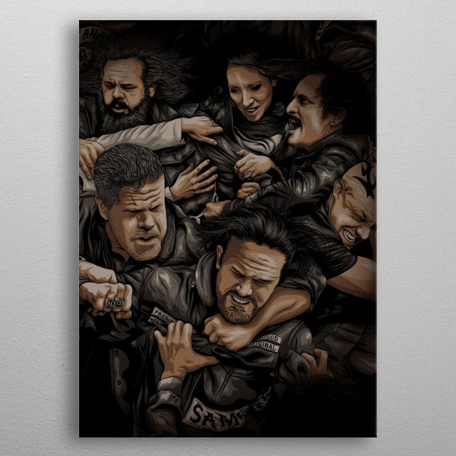 Sons of Anarchy metal poster