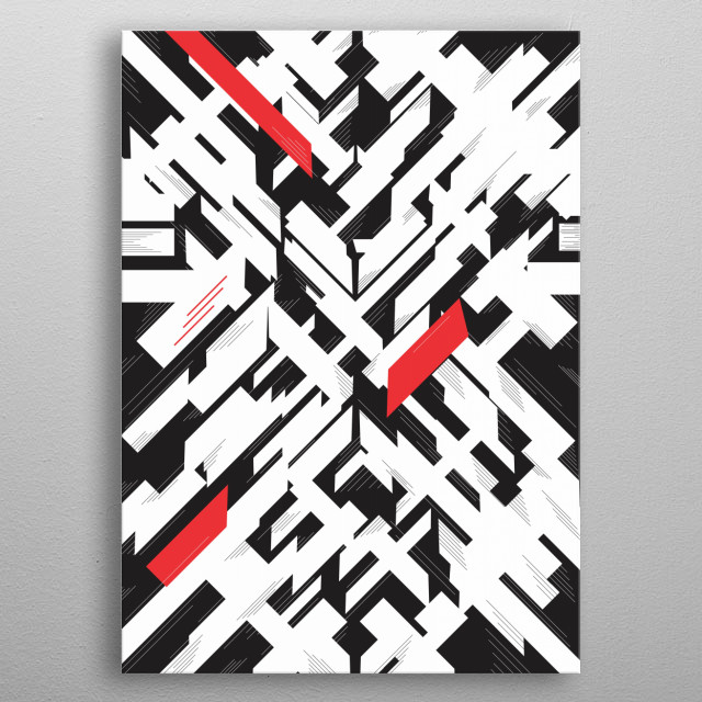 Forms & Lines metal poster