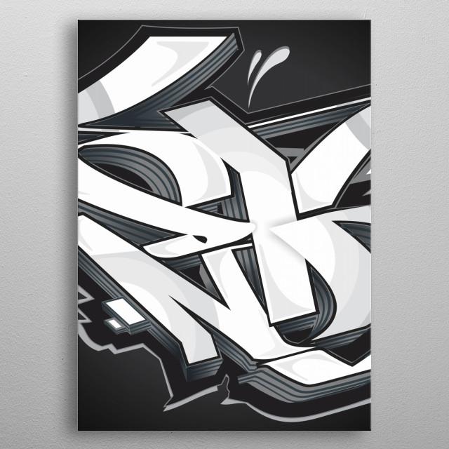 Graffiti black metal poster