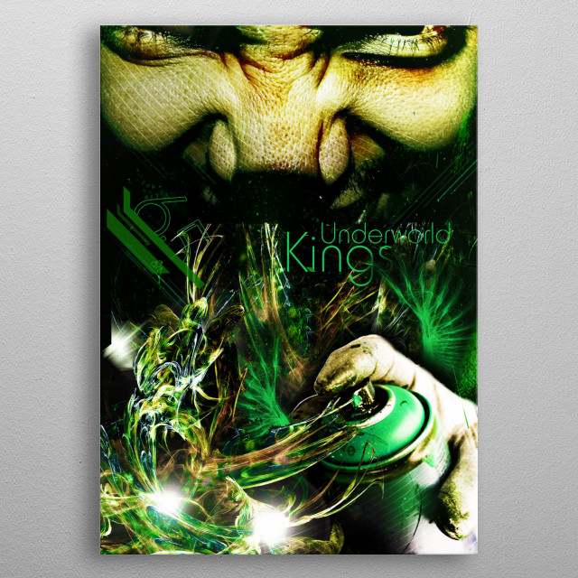 Fascinating metal poster designed by Gustavo Gus. Displate has a unique signature and hologram on the back to add authenticity to each design. metal poster