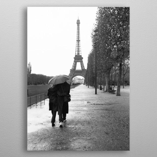 PARIS AMOUR metal poster