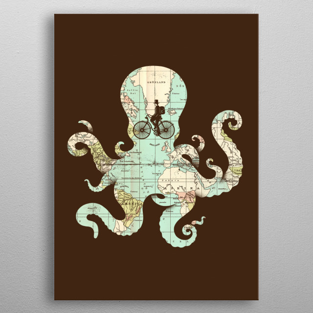 All Around the World metal poster