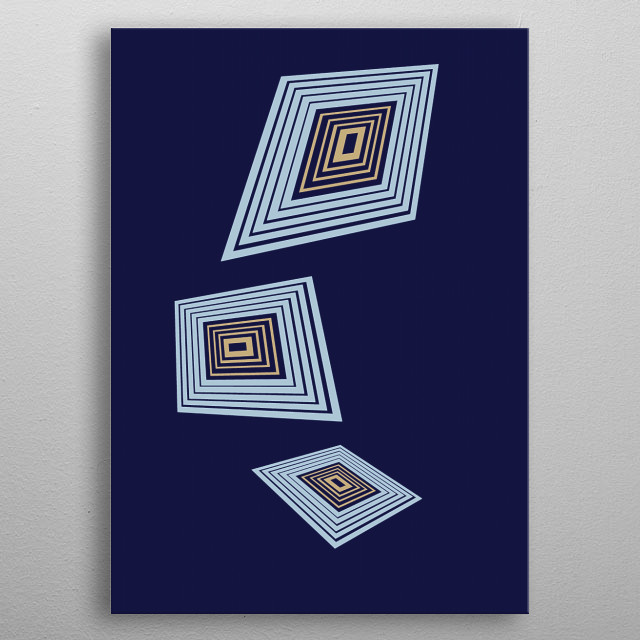 Abstract Takeoff metal poster
