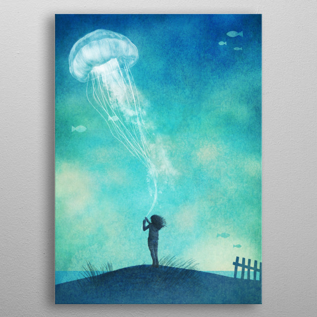 The Thing About Jellyfish metal poster