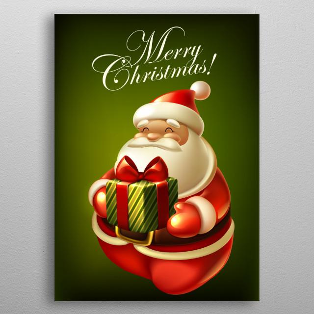 Cute & Chubby Santa. metal poster