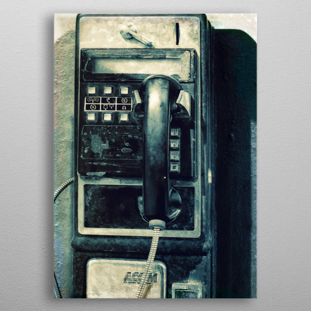 The Abandoned Phone metal poster