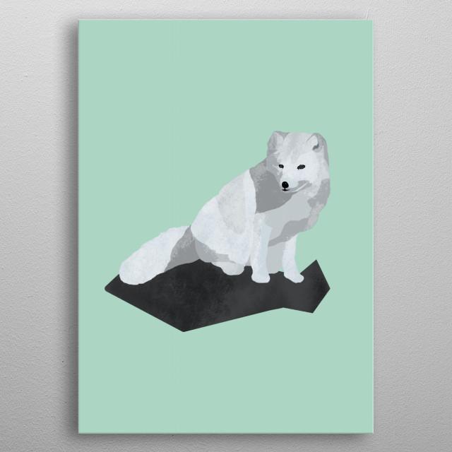 Arctic Fox metal poster
