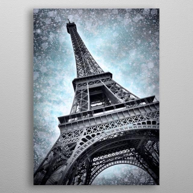 Digital-Art PARIS Eiffel Tower | Winter Edition metal poster