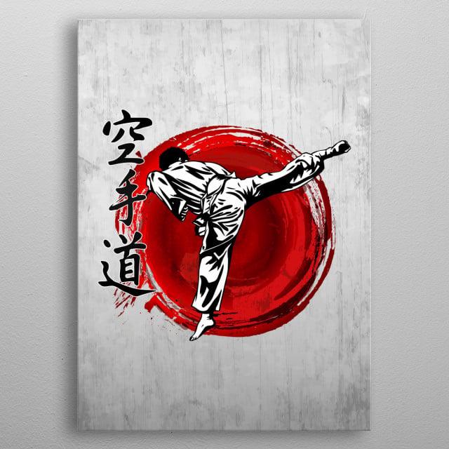 Karate Do metal poster