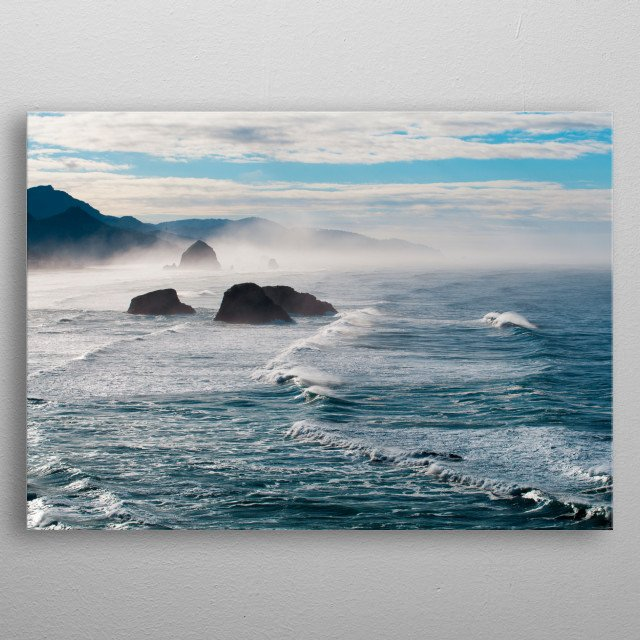 High-quality metal print from amazing The Sea collection will bring unique style to your space and will show off your personality. metal poster