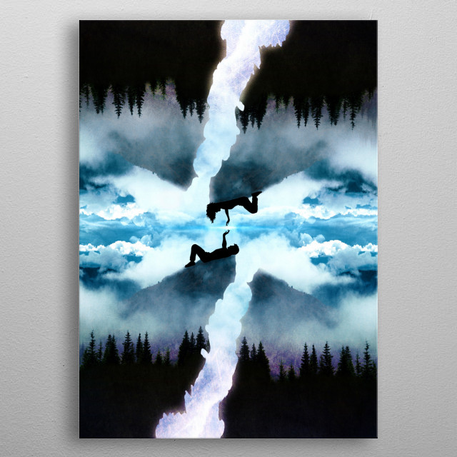 Two Worlds One Heart metal poster