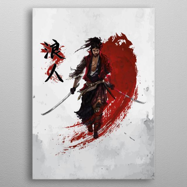 Ronin Samurai metal poster