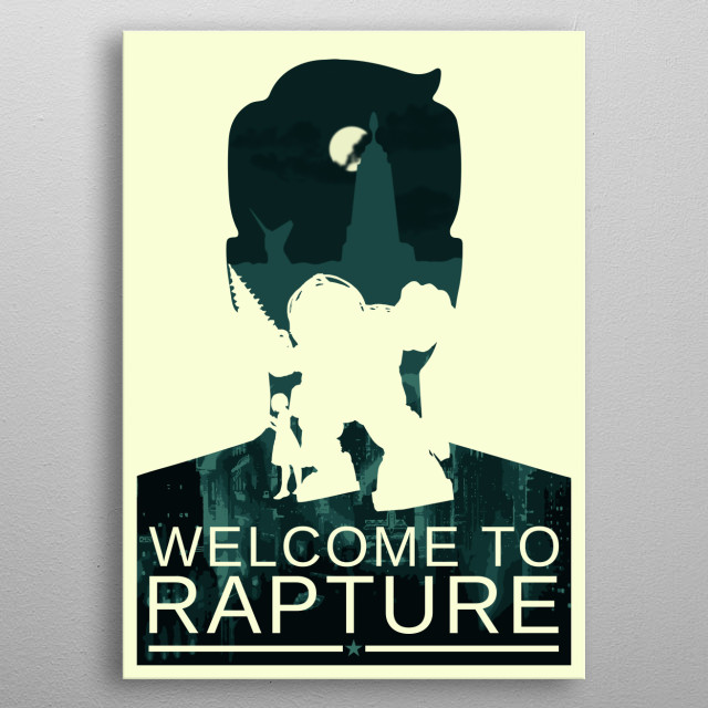 Welcome to Rapture metal poster