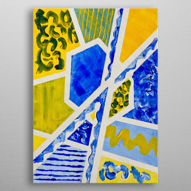 An Abstract Painting In Geomet Abstract Poster Print
