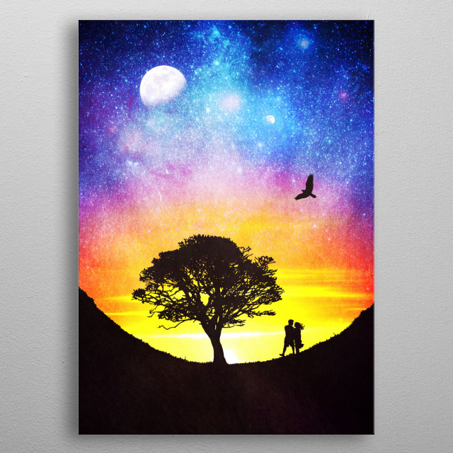 When the stars were shining metal poster