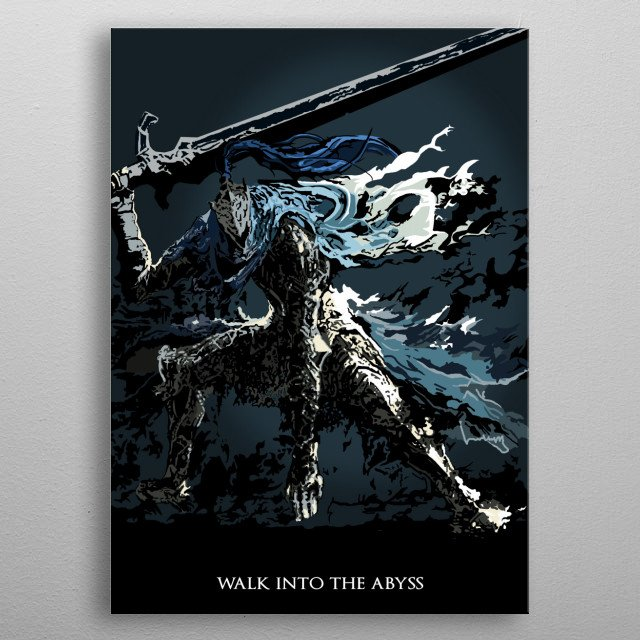 Artorias of the Abyss metal poster