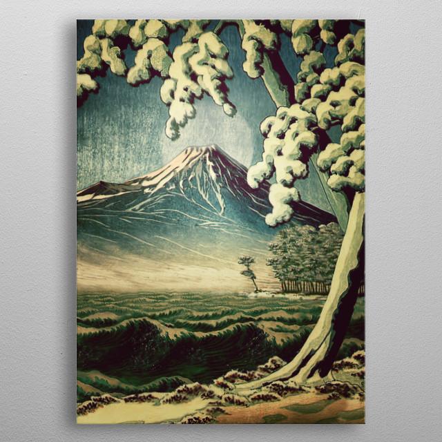 5 Lakes at Moonlight metal poster