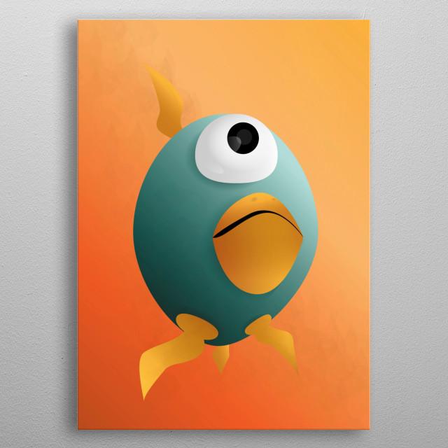 Monster chicken egg! metal poster