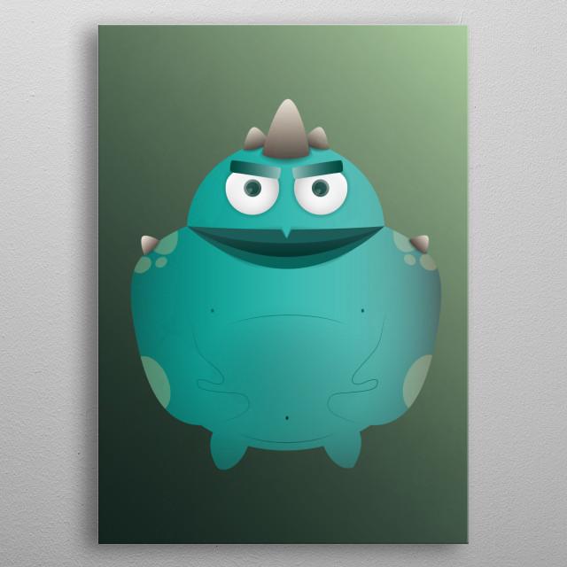 Strong big green monster! metal poster