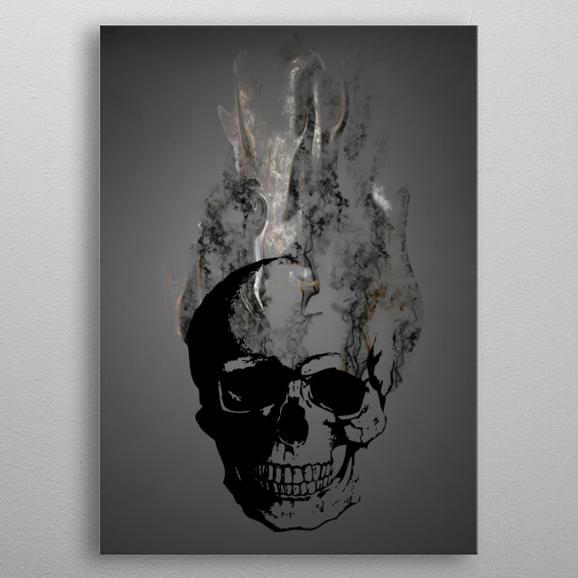 Smoke skull metal poster